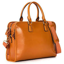 details about s women s leather briefcase satchel handbag 14 laptop tote bag brown