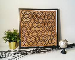 kuba cloth framed wall art honeycomb pattern vintage wall hanging african fabric framed textile hand woven modern ethnic art decor on african cloth wall art with framed kuba cloth etsy