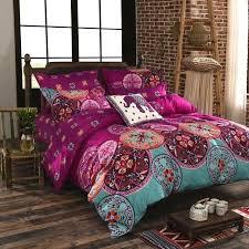 bohemian bedding luxury bohemian bedding set king queen full size cotton vintage bedding sets bedspread bohemian