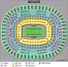 Fedex Field Seating Chart Interior Redskins Stadium Map Washington Redskins Seating