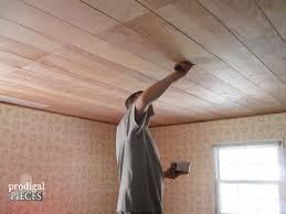 faux barn beam ceiling master bedroom