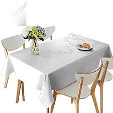 Rectangle Tablecloth Chart Amazon Com Uhoo2018 Fitted Polyester Tablecloth Stick Graph