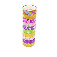 <b>10PCS</b> DIY Color Masking Adhesive Tape <b>Glitter Washi Tape</b> ...