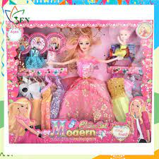 Bộ sưu tập thời trang búp bê Barbie & em gái nhỏ đạp xe [ĐƯỢC KIỂM HÀNG] -  41737216 | Búp bê