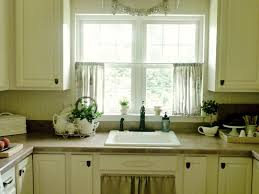 curtain ideas for kitchen brown gloss paint kitchen cabinet beige