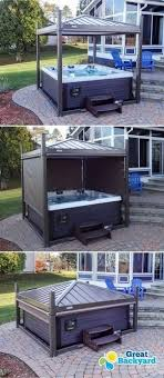covana rollvorhang mokka hot tubs accessories concept of diy hot tub cover