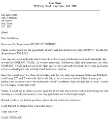 Thank You Letter Example For Second Interview Icover Org Uk