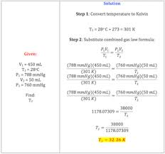 Combined Gas Law Definition Formula Example Video