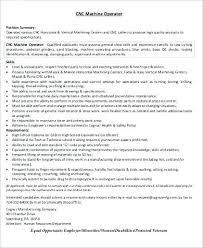 Cnc Operator Resume Operator Resume Sample Operator Resume Carter ...