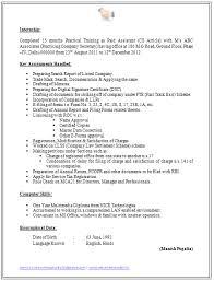 Company Resume Templates Cv Format For Company Secretary 2 Sample Resume