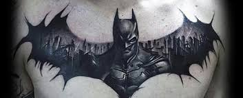 batman symbol tattoo designs for men