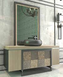 Casa Padrino Luxus Badezimmer Set Naturfarben Mehrfarbig Schwarz