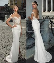 split sexy sheath wedding dresses 2017 julie vino bridal off the