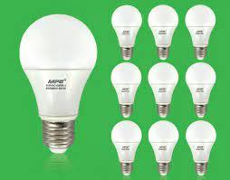 Bộ 10 Bóng đèn LED Bulb tròn 5W MPE ánh sáng vàng - 10 Bóng đèn LED Bulb 5W  MPE