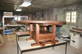 custom made 6 round solid walnut expanding dining table