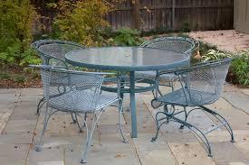 Belham Living Stanton Wrought Iron Dining Set By Woodard  Seats 4 Woodard Wrought Iron Outdoor Furniture
