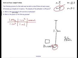 work and power calculations for a water pump physics problem  work and power calculations for a water pump physics problem