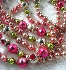 glass bead garland mercury glass bead garland with vintage beads pale vintage mercury glass bead garland