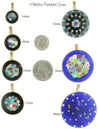 Necklace Pendant Size Chart Making Millefiori Pendants Venetian Glass Jewelry Murano