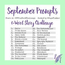 is journaling a word september prompts 6 word story challenge pfsixwordchallenge