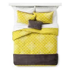 Image Bedroom View Photos Target Geometric Comforter Set Yellowgray Room Essentials Target