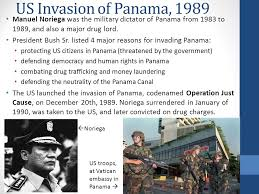 Image result for 1989 The U.S. invades Panama