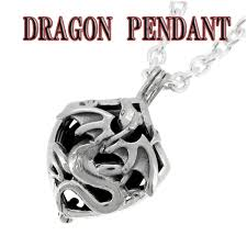 men s necklace 925 silver accessory sterling hard dragon dragon shinjuku silver collection free on silver necklace dragon cage with