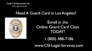 bsis guard card los angeles la security guard training