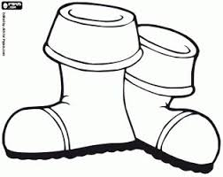 Santa Boot Template Rain Boots Coloring Page Free Download Best Rain Boots