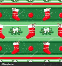 Christmas Illustration Pattern Decorations Sock Tree Use