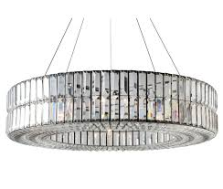 the monroe round clear crystal chandelier two tier
