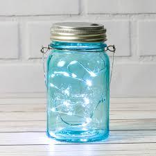 Light Blue Mason Jars Fantado Water Blue Mason Jar With Fairy Lights