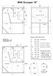 Speaker Box Design Plans Mini Scooper Speaker Plan 18 Inch