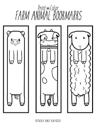 Coloring Pages Free Printable Farm Animalookmarks For Kids To