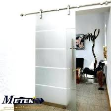 frosted glass interior barn doors luxury sliding stainless steel hardware
