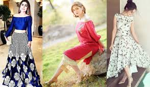 New Off The Shoulder Dresses Fashion In Pakistan 2017 Beststylo Com