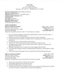 Examples Of Federal Government Resumes Federal Job Resume Example ...