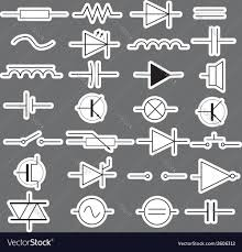 schematic symbols in electrical engineering vector image by schematic symbols in electrical engineering vector image