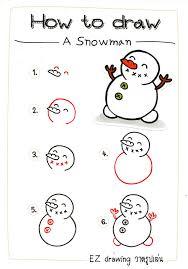 ✿How to DRAW: A SNOWMAN & Christmas Decorations✿EP#2 - วาดรูปเล่น EZ drawing
