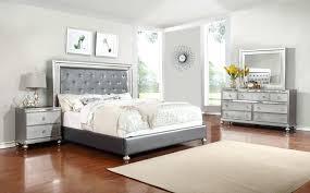 Medium Images Of Mirror Headboard Queen White Leather Bedroom Set ...