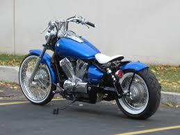 honda spirit 750 shaft drive blue collar bobbers motorcycles