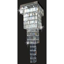 crystal art led crystal ceiling chandelier in chrome finish stled508121 40 04 ch