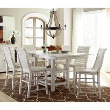 distressed white table. Willow Rectangular Counter Height Dining Table Distressed White Throughout Remodel 2