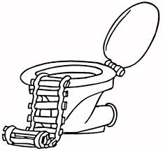 Toilet Met Een Ladder Kleurplaat Gratis Kleurplaten Printen