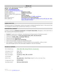 Job Resume Free Download Mca Resume Format For Freshers Over