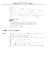 Supervisor Resume Sample Free Production Supervisor Resume Samples Velvet Jobs Free Templates S