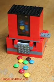 How To Build A Lego Vending Machine Inspiration How To Build A Lego Candy Dispenser Frugal Fun For Boys And Girls