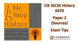 igcse history paper exam tips history revision for gcse igcse history paper 2 exam tips