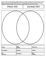 Comparing Animal And Plant Cells Venn Diagram Plant Animal Cell Venn Diagram Science Ideas Animal Cell