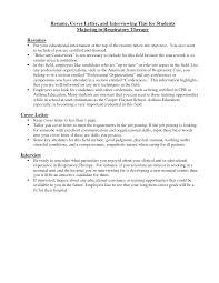 Respiratory Therapist Student Resume Respiratory Therapist Cover Letter Resume Cover Letter And